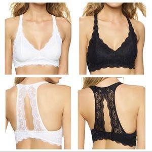 Felina Intimates & Sleepwear - Two Felina Lace Bralettes Black & White NWOT M
